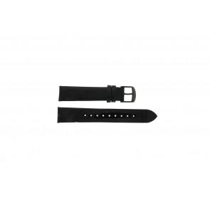 Timex watch strap T2N790 Leather Black 18mm