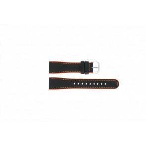 Timex watch strap T2N428 Leather Black 22mm