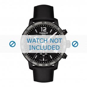 Tissot watch strap T095.417.36.057.02 - T600035372 Leather Black 19mm