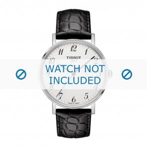 Tissot watch strap T109.410.16.032.00 - T600039639 Croco leather Black 19mm + black stitching