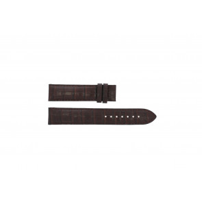Tissot watch strap T065.430.A - T610029096 / T065.430.160.310.0 Croco leather Brown 19mm