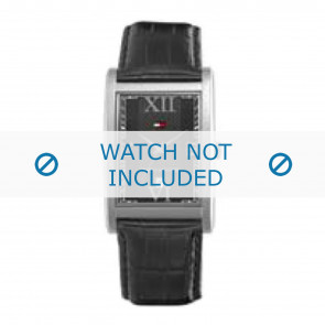 Tommy Hilfiger watch strap TH-67-1-14-0759 / TH1710175 Leather Black + black stitching
