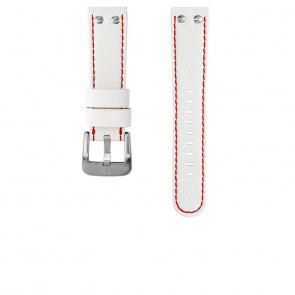 TW Steel watch strap TWB39 / TW39 Leather White 22mm + red stitching