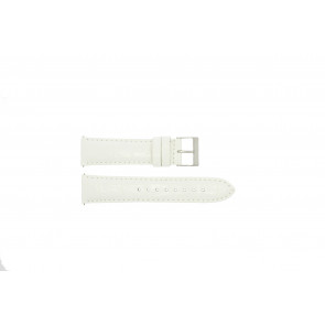 Guess watch strap W85053G2 / W10558L1 Leather White 22mm
