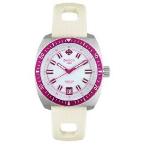 Zodiac watch strap ZO2269 Rubber White