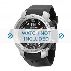 Zodiac watch strap ZO8505 Rubber Black 28mm