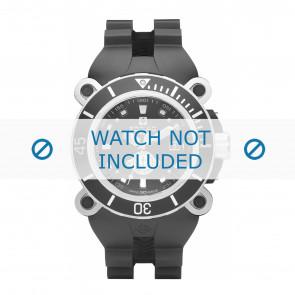 Zodiac watch strap ZO8532 Rubber / plastic Black