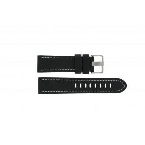 Prisma watch strap ZWST23 Leather Black 23mm + white stitching