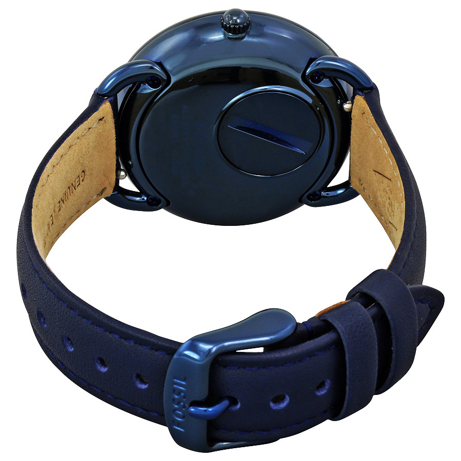 76430f09b Fossil watch strap ES4092 Leather Blue - Order now from World of ...