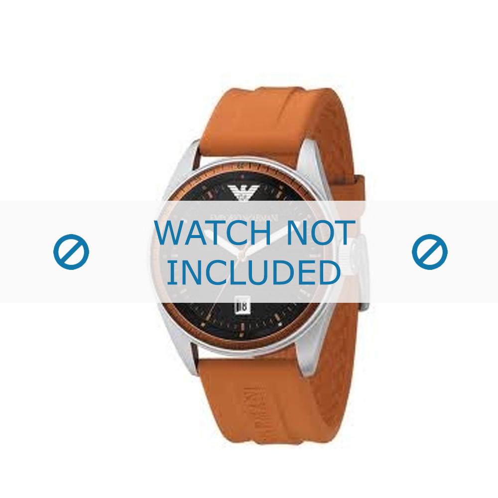 b9bcd91f6362 Armani AR-0561 original watch strap Rubber Orange - Order now!