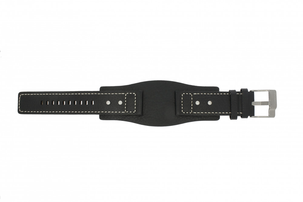 e5a5dd56e9406c Fossil watch strap JR9991 / AM3696 Leather Black 24mm