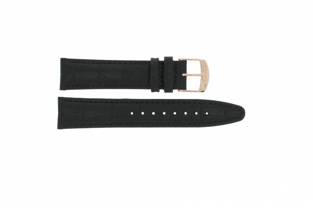 bf640c55d1da Watch strap Lotus 9993-3 / 18217-3 Leather Black 21mm