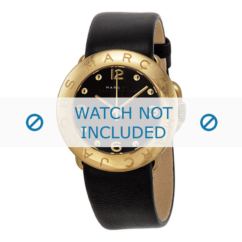 f4dc5cf4b2c7b Marc by Marc Jacobs watch strap MBM1154 Leather Black 20mm