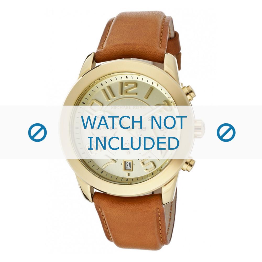 ad84c1627 Michael Kors watch strap MK2251 Leather Brown 22mm + default stitching