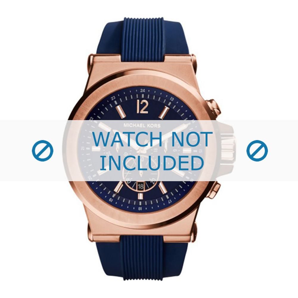 Michael Kors watch strap MK8295 Rubber Blue 13mm f6634c82c7