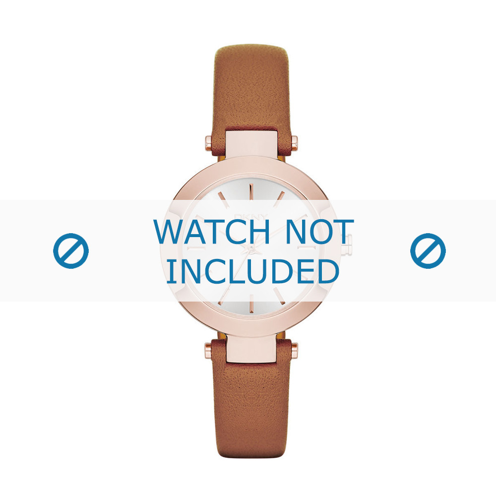 e18b7dbf0 DKNY NY-2415 watch strap Leather Brown - Order now!