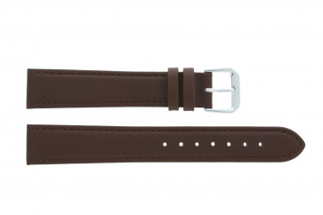 Watch strap Universal 054.02 Leather Brown 16mm