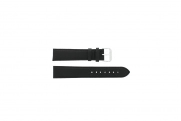 Watch strap Universal 054.01.18 Leather Black 18mm