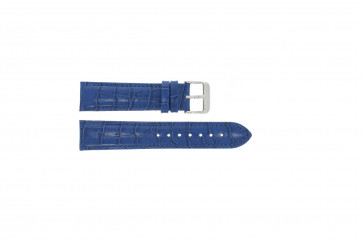 Genuine leather croc blue 22mm PVK-285
