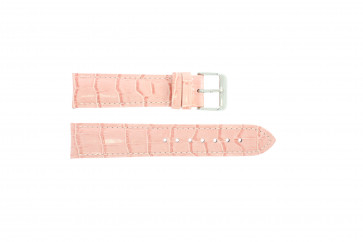 Genuine leather croc pink 22mm PVK-285