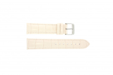 Genuine leather croc light pink 24mm PVK-285
