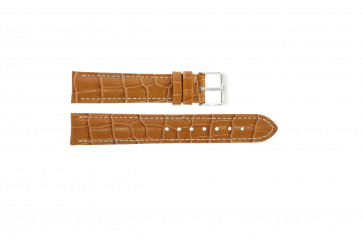 Genuine leather croc light brown 20mm PVK-285