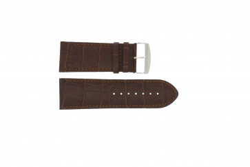 Watch strap 305.02 Leather Brown 20mm + default stitching