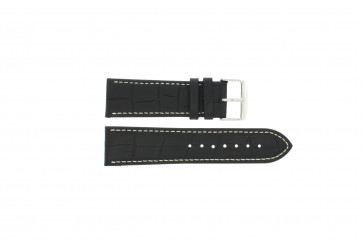 Watch strap Universal 308L.01 XL Leather Black 20mm