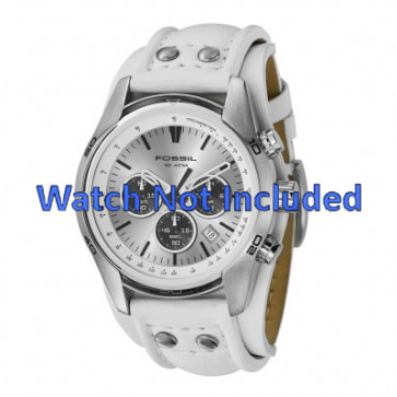 Watch strap Fossil CH2592 Leather White 22mm