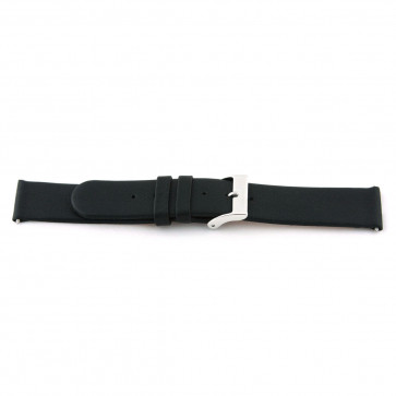 Watch strap 800.R01 Leather Black 12mm + standard stitching