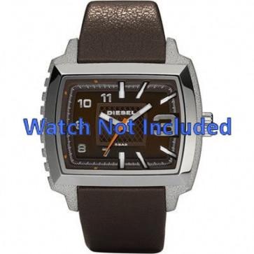 Diesel watch strap DZ1364 Leather Dark brown 25mm