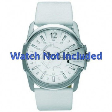 Watch strap Diesel DZ1405 Leather White 27mm
