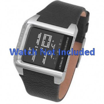 Watch strap Diesel DZ7094 Leather Black 24mm