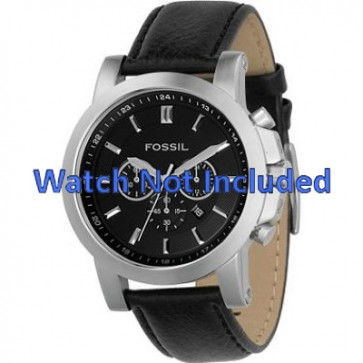Watch strap Fossil FS4247 Leather Black 22mm