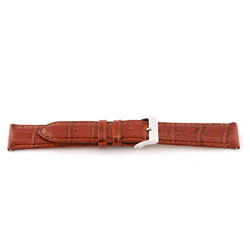 Genuine leather watch band Cognac brown 12mm EX-G62