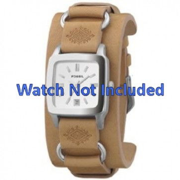 Watch strap Fossil JR8300 Leather Brown 16mm