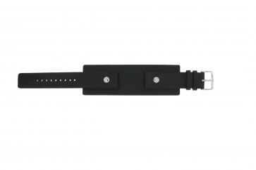 Watch strap Fossil JR8122 Leather Black 20mm