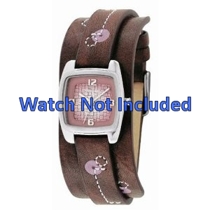 Fossil watch strap JR-9512 Leather Brown 12mm