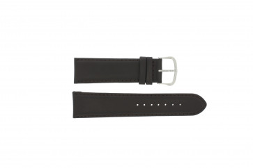 Watch strap WoW E.5316 Leather Dark brown 22mm
