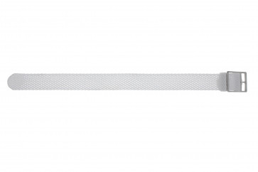 Watch strap WoW PERLON-18-WIT Nylon/perlon White 18mm