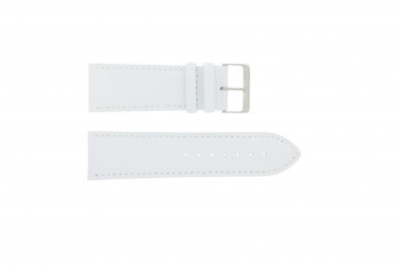 Genuine leather watch strap white 30mm