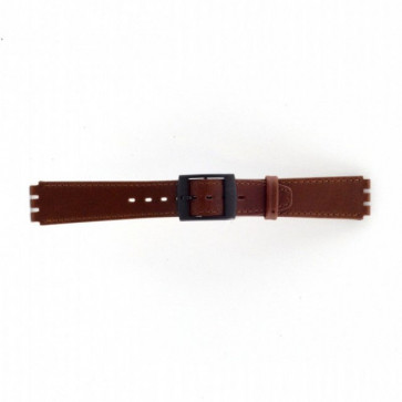 Watch strap Swatch SC15.02 Leather Brown 16mm
