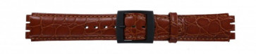 Watch strap Swatch SC10.03 Leather Brown 17mm