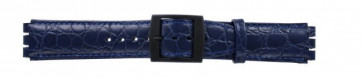 Watch strap Swatch SC10.05 Leather Blue 17mm