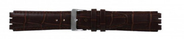 Strap for Swatch genuine leather dark brown 17mm 21414