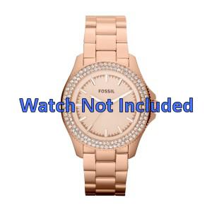 Watch strap Fossil AM4454 Steel Rosé 18mm