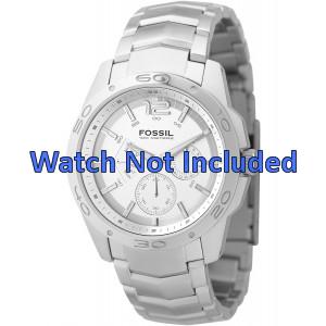 Fossil watch strap BQ9327 / BQ9328 Metal Silver 22mm