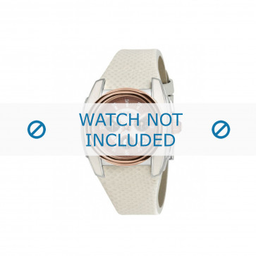 Breil watch strap BW0383 / F260053231 / BW0384 Leather White 25mm