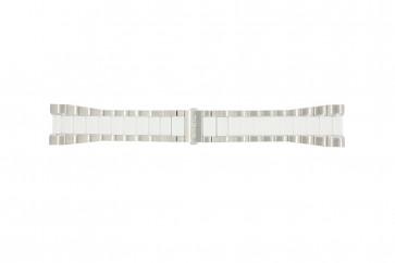 Breil watch strap BW0224 Steel White 27mm
