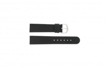 Watch strap IQ13Q732 / IQ16Q672 Leather Black 20mm